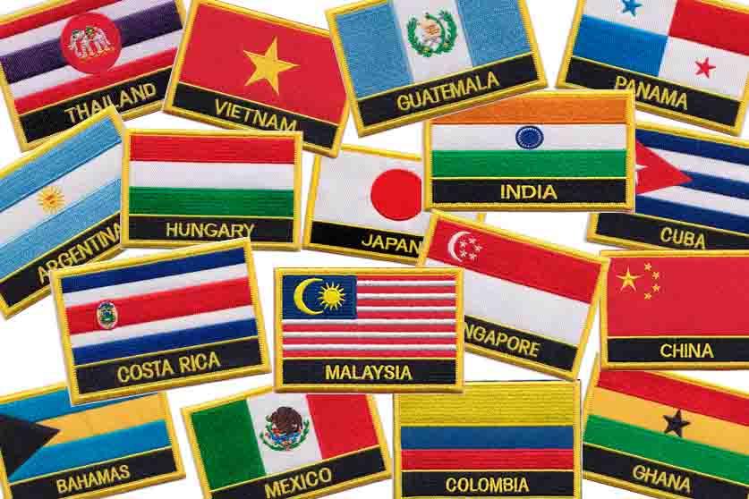 parches banderas