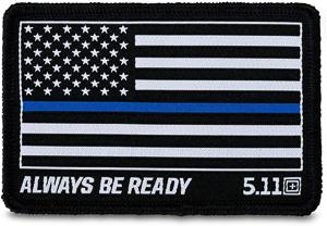 Parche Crossfit Bandera Americana Negra